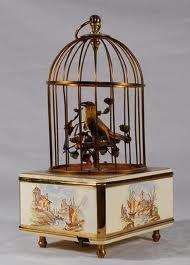 antique singing bird music box