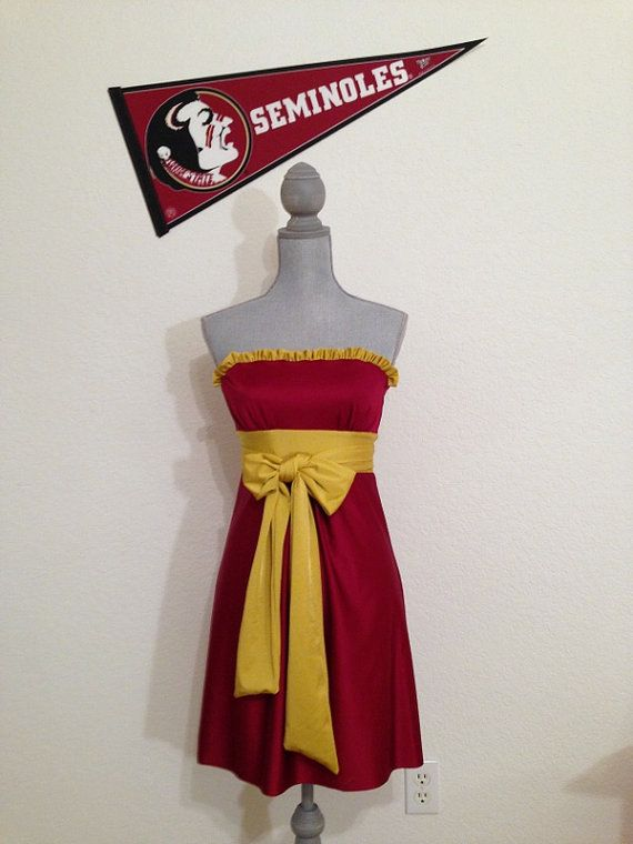"Gameday Dress FSU Game day Dress.  Noles ""Little Miss Huddle Up"" on Etsy, $80.00"