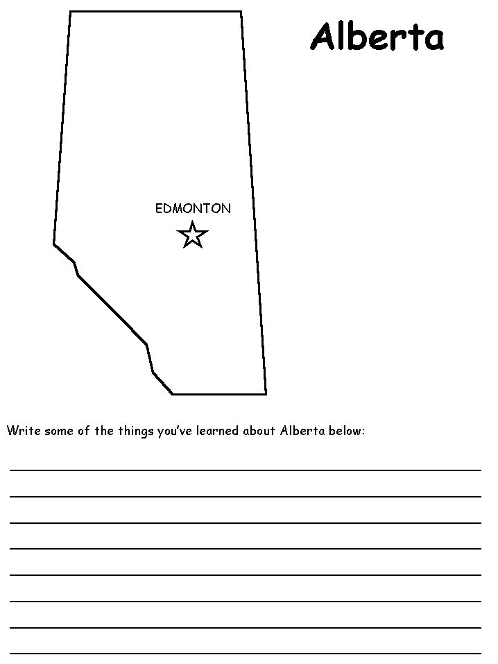 alberta coloring pages - photo#17