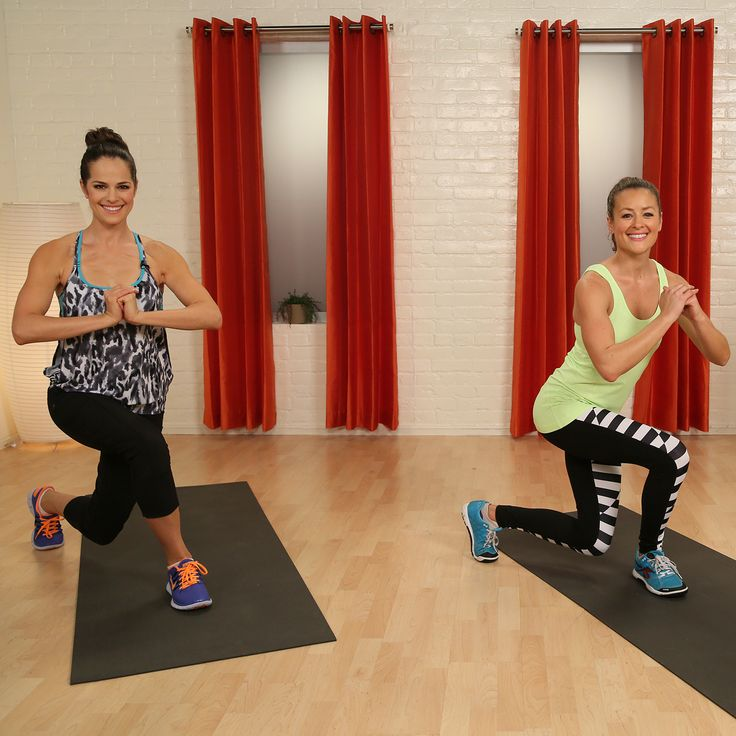 This 40-minute video includes body-weight exercises, plyometrics, and some weights! It burns calories while building metabolism-boosting muscle.