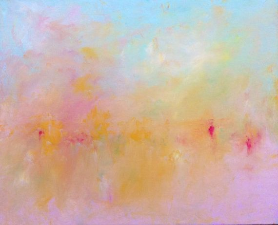 "Abstract Landscape 'Heaven 17' - oil painting on canvas - size 56cm x 46cm (22"" x 18"")"
