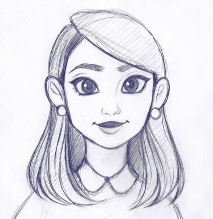drawing sketch hair drawings animation sketches simple cool quick instagram portrait easy cartoon person pencil dibujos characters been busy lapiz
