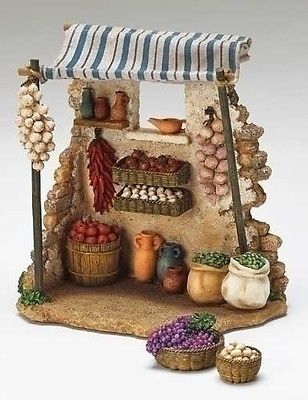 Fontanini Produce Shop Building Italian Nativity Village Figurine Set