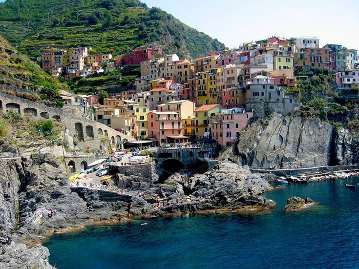 Manarola Is A Small Fishing Town In The Province Of La Spezia Liguria Northern Italy That
