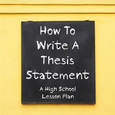 writing good thesis statement essay