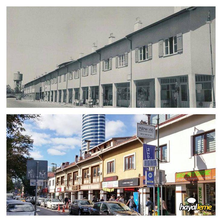 Yaklaşık 60 yıl önce ve sonra Levent. #hayallemek #istanbul #Besiktas