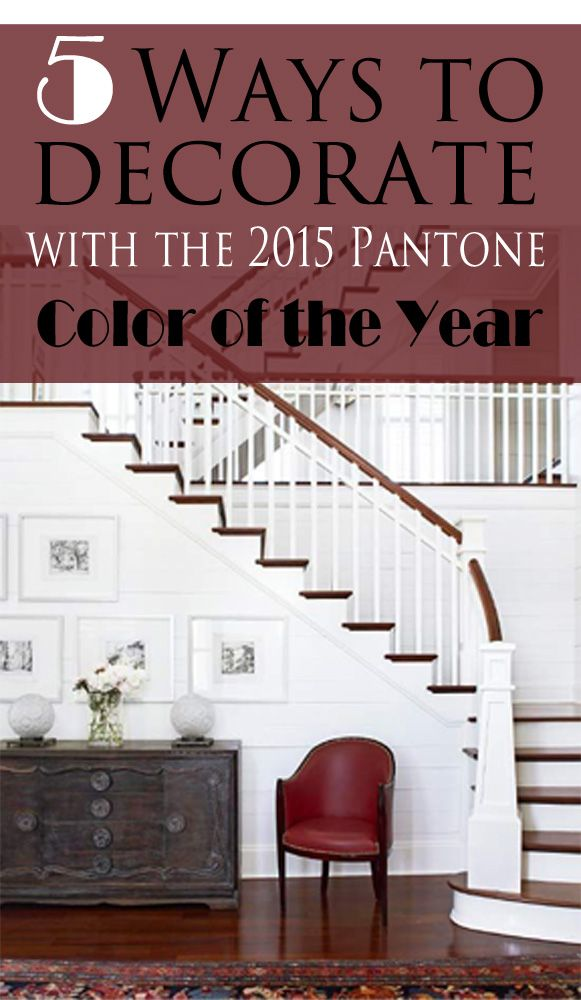 Get 5 tips for decorating with Pantone's 2015 color of the year, Marsala.  Tips at www.providenthomedesign.com.  Photo credit: bhg.com.