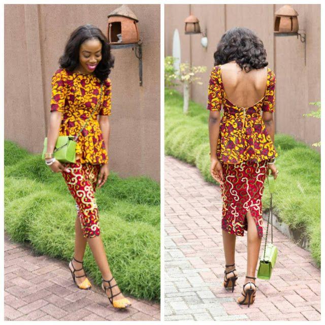 Check Out This Ankara Short Skirt And Top Design