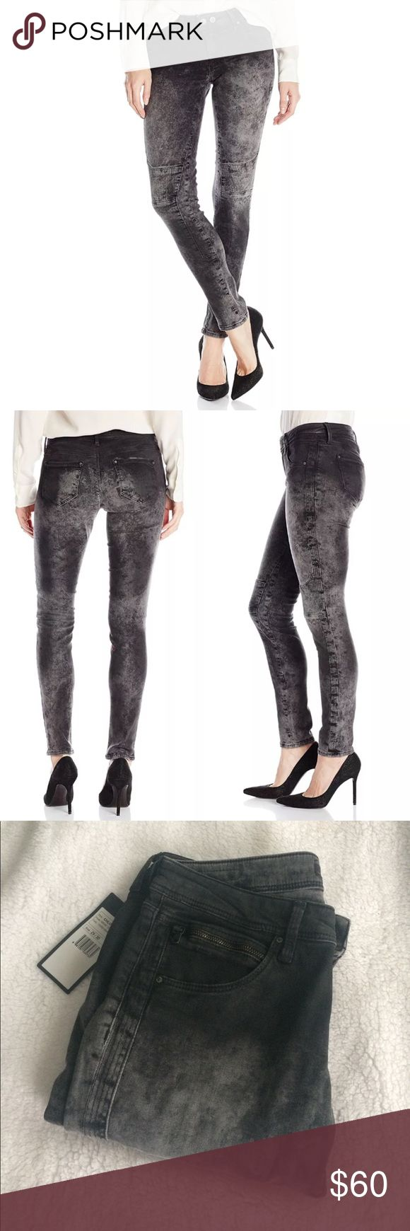 """Mavi skinny jeans Mavi """"Chloe"""" super skinny moto style jeans Finish: smoke coated Rise: low rise  Two front and two back pockets, one front zipper pocket Moto style detailing 98% cotton, 2% elastane New with tags Mavi Jeans Skinny"""