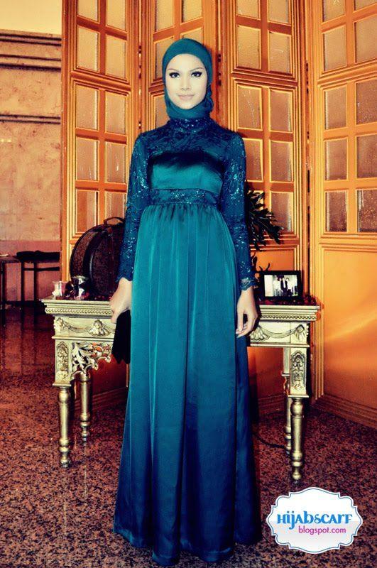 Turquoise Dress | Hijab Scarf