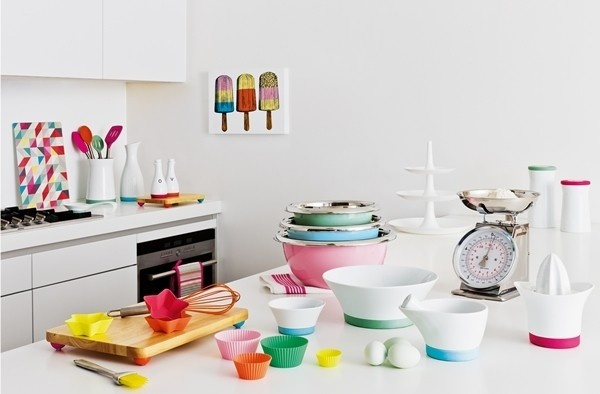 pastel neon kitchenDreams Kitchens, Mixed Bowls, Rainbows Kitchens, Playnat Kitchenware, Dreams Housekitchen, Beautiful Interiors, Lewis Playnat, Kitchens Ideas, John Lewis