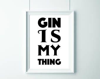 Es lo que me gusta. Impresión de Gin. Impresión para los amantes de la Ginebra