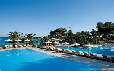 Pools at Sani Beach Club Halkidiki Greece