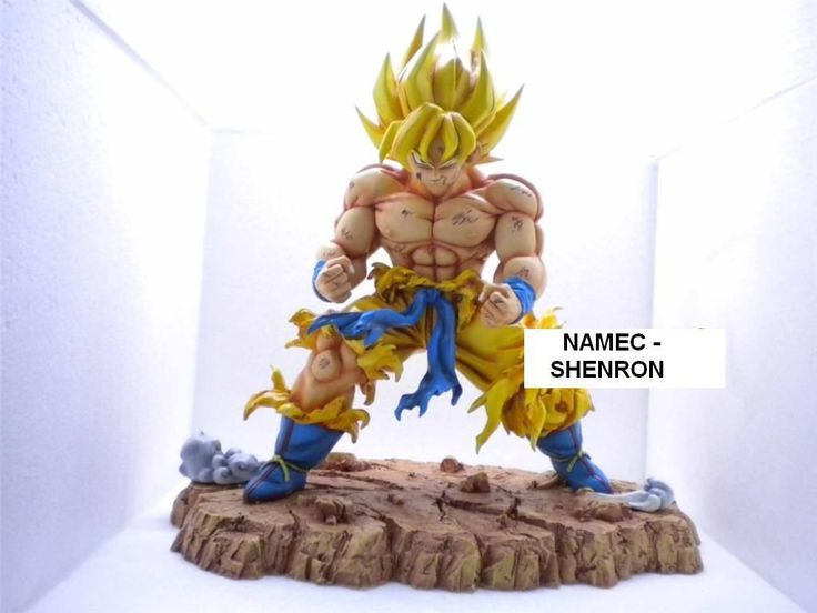 Dragon ball z sangoku enerver figurine en resine 32cm
