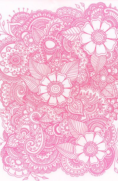 whimsical floral and paisley print #pink