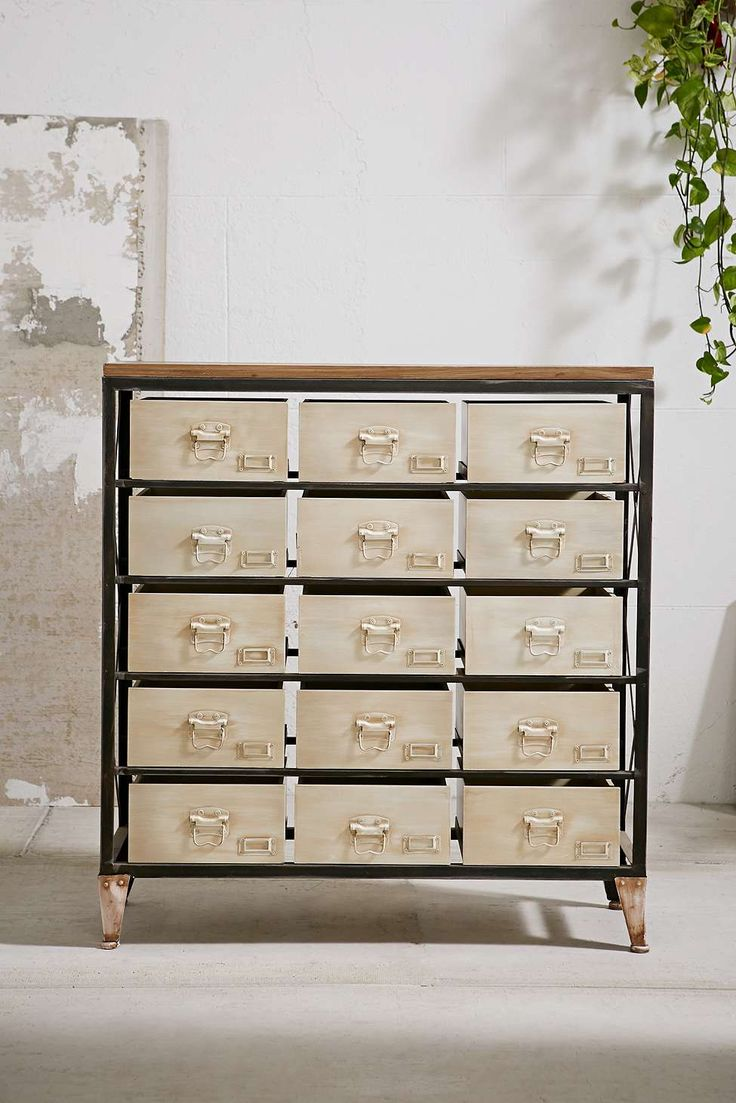 Industrial Storage Dresser, perfect for makeup and beauty stuff