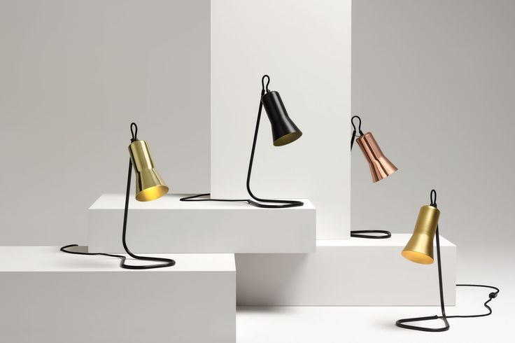Ross Gardam | Silhouette Lamps in solid brass, black anodised, solid copper and gold anodised