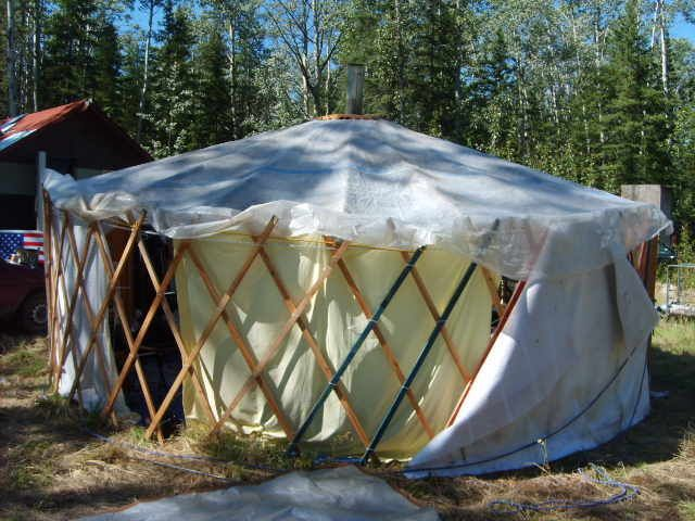 Portable Building Tents : Gertee portable tent home made of recycled materials