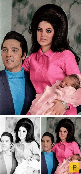 Элвис Пресли, Присцилла Пресли и Лиза-Мари.  Источник: pressa.tv