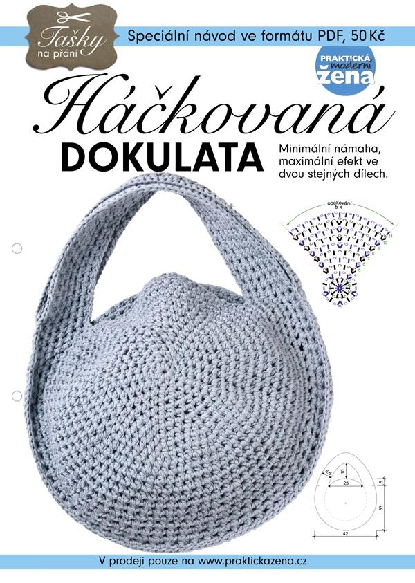 Bag | Taška - Round crochet bag DIY | Taška háčkovaná dokulata