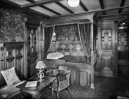One of Titanic's second class cabins.