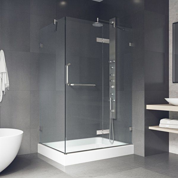 Monteray 40 25 W X 79 25 H Rectangle Hinged Shower Enclosure