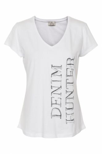 Denim Hunter Ella T-shirt Optical White - T-shirts - MaMilla