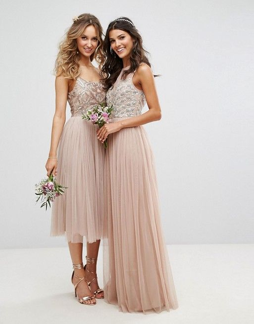 Beaded Metallic And Sequined Bridesmaid Dresses In 2018 Pinterest