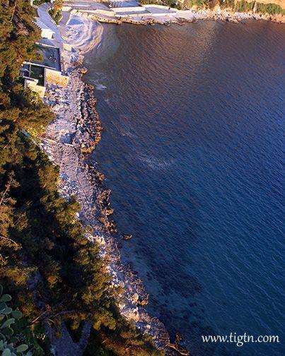 #Arvanitia Beach, view from #Akronafplia Hill. #Nafplio - #Greece