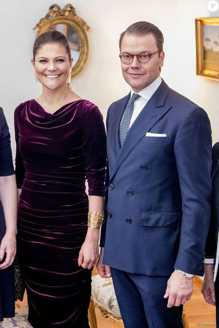 La princesse Victoria et le prince Daniel de Suède lors de la célébration de Sainte-Lucie à l'ambassade de Suède à Rome. Le 15 décembre 2016 15/12/2016 - Rome
