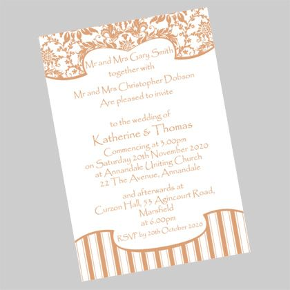 Classic wedding invite. A postcard sized wedding invitation which is available in more than 50 colours. www.kardella.com