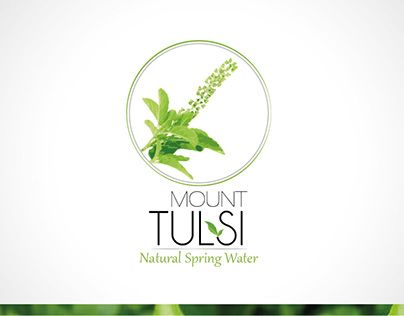 "Logo and Label for Packaged Drinking water. Check out complete project on Behance portfolio: ""Mount Tulsi : Natural Spring Water"" http://be.net/gallery/42901011/Mount-Tulsi-Natural-Spring-Water"