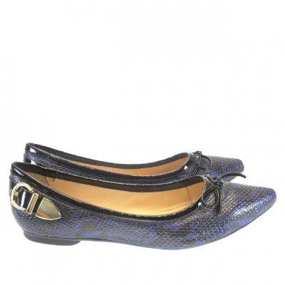 Sapatilha Snake Azul 0201 Mezzo Punto - confort line