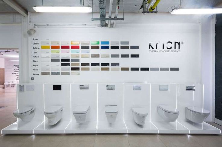 Noken Toilets in TileStyle Porcelanosa Bathroom Showroom