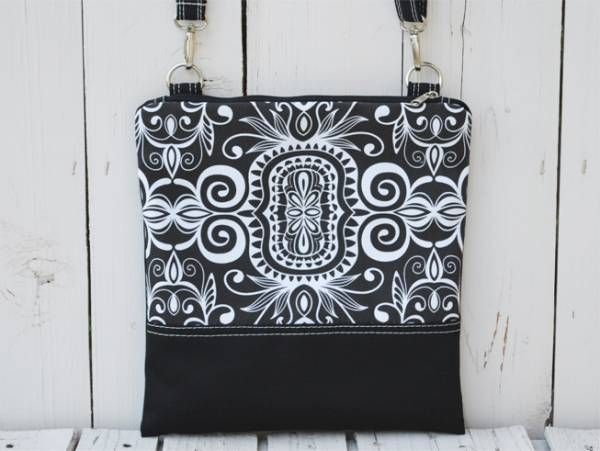 Black and Painted Canvas Pattern