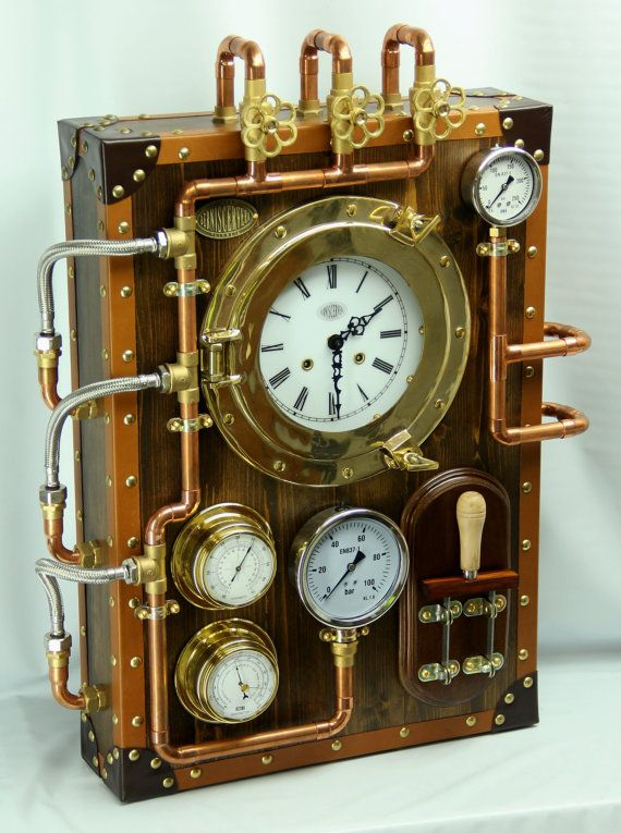 Wall Clock BernisCervera Industrial Steampunk old by Berniscervera, $6800.00