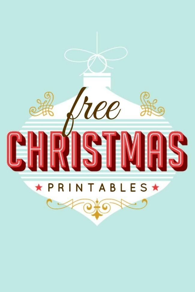 200 Free Christmas Printables
