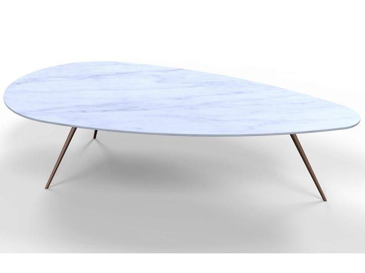 Tavolino basso in marmo EGGE - TCC Whitestone