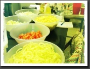 Cooking Gulyás soup and preparing 400 cold meal packs in the Homeless Shelter.