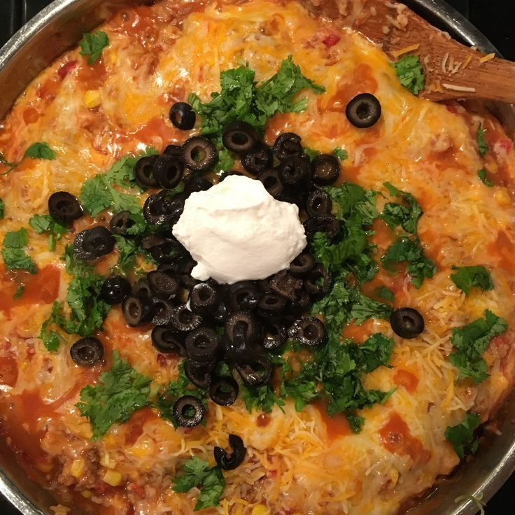 Delicious one skillet Mexican inspired dish made with ground chicken, rice, tomatoes and cheese. low #FODMAP