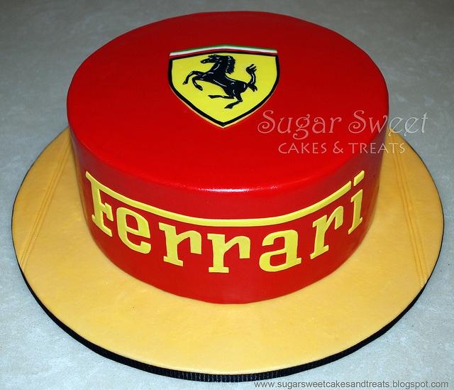 Ferrari Cake by Angela Tran  (red marshmallow fondant - Recipe is on my blog)