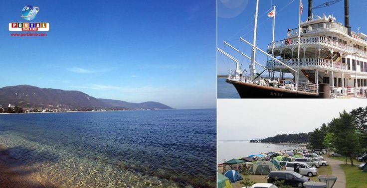 Considerado o maior e mais antigo lago do Japão, o Biwako está localizado em Shiga e é muito conhecido pela comunidade.