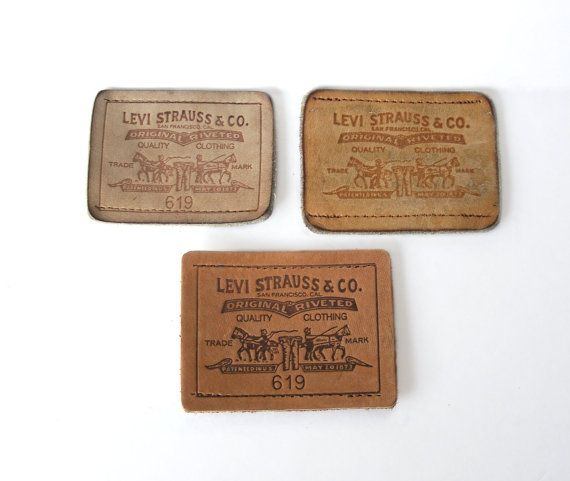 Patches Labels Levi Strauss & Co. Leather by MargsMostlyVintage
