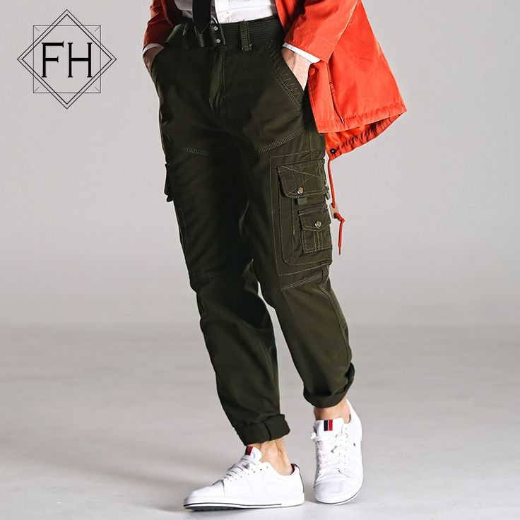 FUHAO Military Pants Men Cotton Breathable Casual Cargo Pants Male Trousers Mens Pants Pockets Plus Size 5XL (With Belt), 276