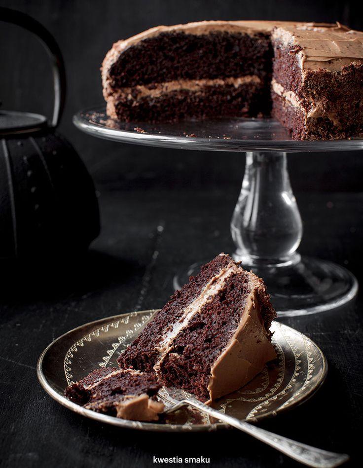 Torcik czekoladowy przekładany