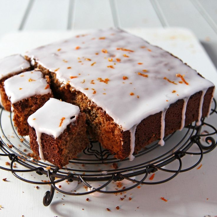 Gingerbread With Orange Drizzle Recipe | BakingMad.com