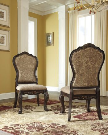 Series Name: Wendlowe   Item Name: Dining UPH Side Chair   Model #: D678-01