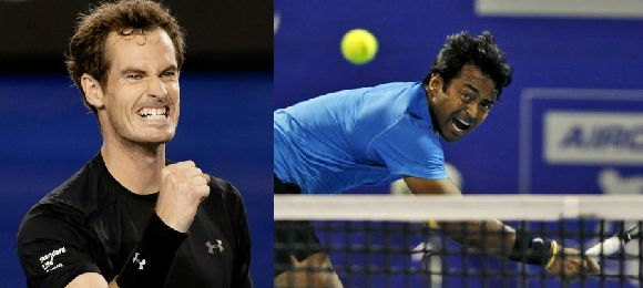 Leander Paes wins Doubles with Andy Murray