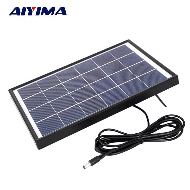 Aiyima 6v 6w Polycrystalline Solar Cells Solar Panel Battery Charger For Caravan Boat Power Applied To Dc Solar Panels Solar Panel Battery Solar Energy Panels