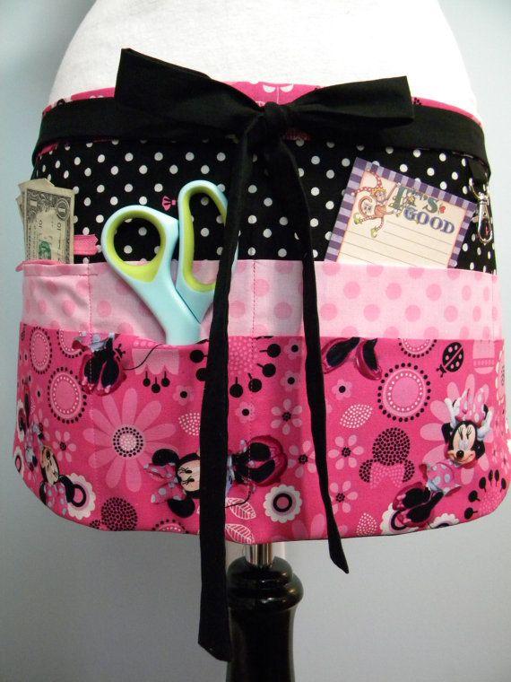 Professeur Crafter vendeur utilitaire tablier-Minnie rose fleurs